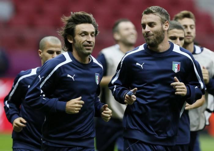 Pirlo e De Rossi in azzurro