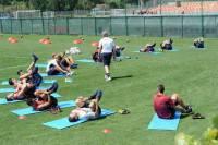 La Roma in allenamento (foto asroma)