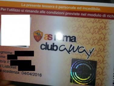 L'A.S.Roma Club Away Card