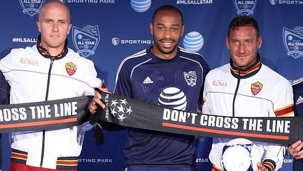 Henry con Totti e Bradley