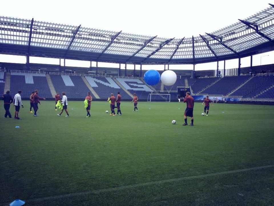 La As Roma si allena a Kansas City