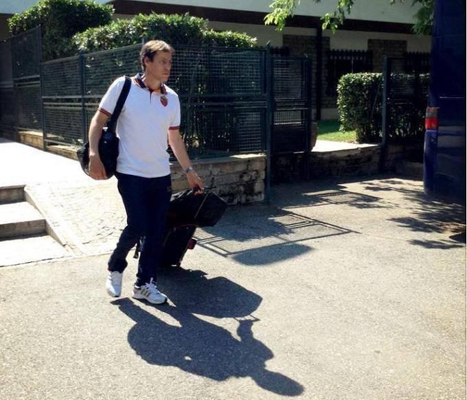Rudi Garcia al momento della partenza da Trigoria