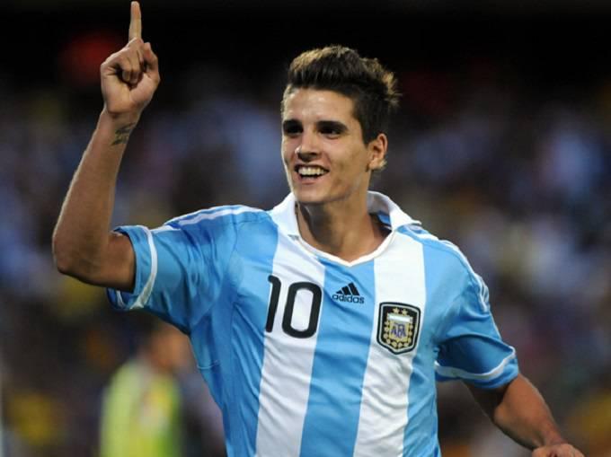 Lamela con la maglia dell'Argentina