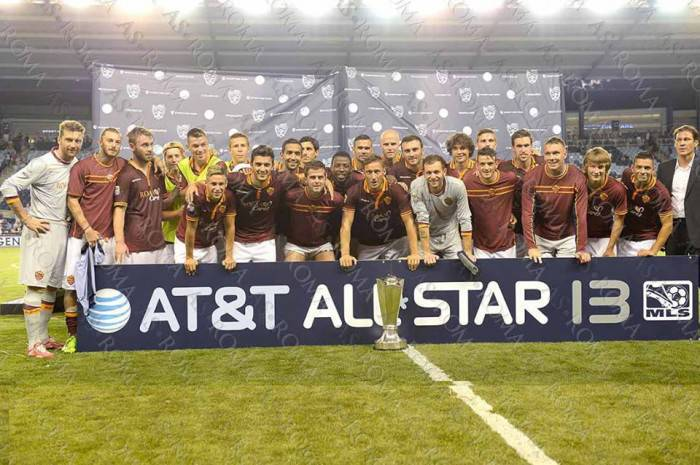 La Roma premiata all'All Star-Game