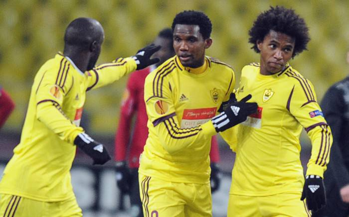 Eto'o e Willian nell'Anzhi