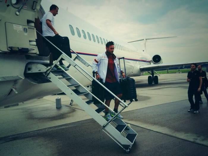 Il momento dell'arrivo a Washington DC