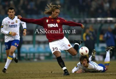 Gabriel Batistuta nell'ultimo Roma-Verona