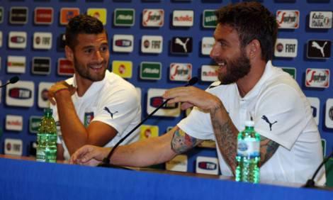Candreva e De Rossi in sala stampa