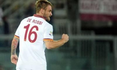 Il centrocampista giallorosso Daniele De Rossi