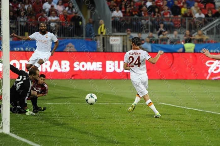 Florenzi in gol contro Toronto
