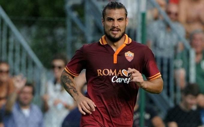 Osvaldo in una delle sue ultime apparizioni con la Roma