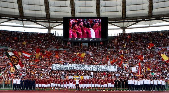 La Roma alla presentazione ufficiale