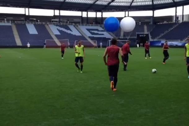 La Roma si allena negli Usa