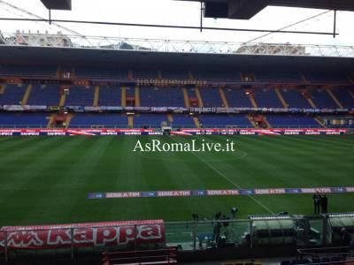 Lo stadio Luigi Ferraris ancora vuoti in attesa di Sampdoria-Roma