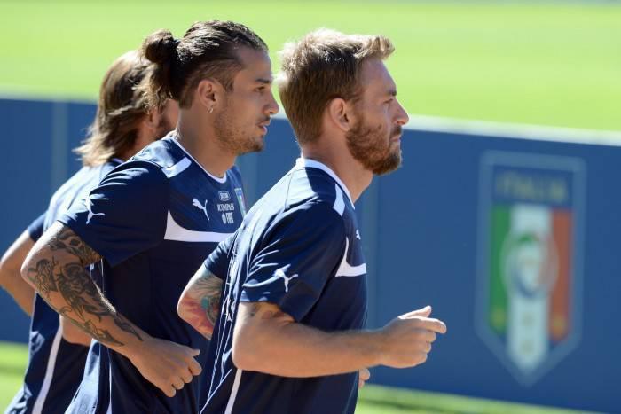 Osvaldo e De Rossi in azzurro (Gettyimages)
