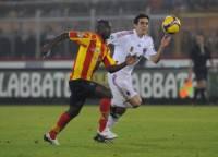 Diamoutene con la maglia del Lecce
