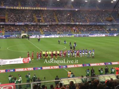 Roma e Sampdoria si preparano al calcio d'inizio