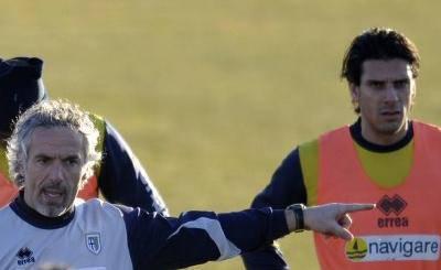 L'allenamento del Parma