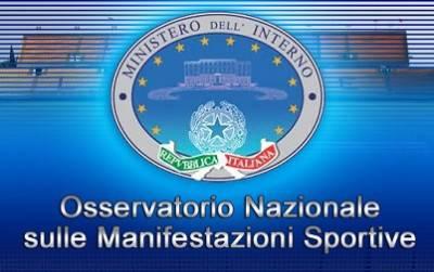 Il logo dell''Osservatorio Nazionale sulle Manifestazioni Sportive