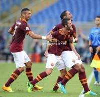 L'esultanza della Roma dopo il gol di Pjanic (Getty Images)