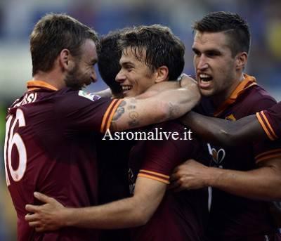 L'esultanza della Roma dopo il gol di Ljajic (Getty Images)