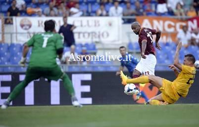Roma-Verona gol di Maicon