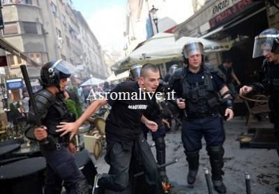 Gli scontri dopo Romania - Ungheria (Getty Images)