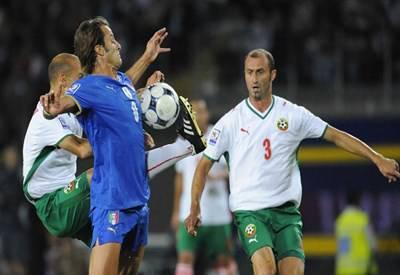 Un'immagine di Gilardino contro la Bulgaria