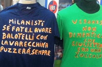 La maglia razzista contro Balotelli
