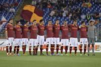 La Roma osserva il minuto di silenzio