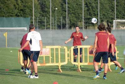 Roma in allenamento