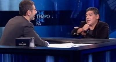 Il gestaccio di Maradona (foto Sportmediaset)