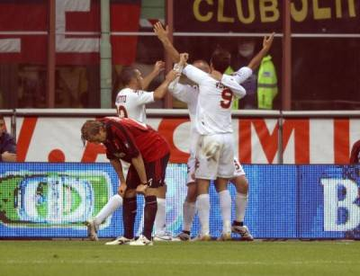Vucinic in gol a San Siro