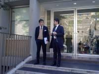 L'arrivo dell'avvocato Conte alla Corte di Giustizia Federale
