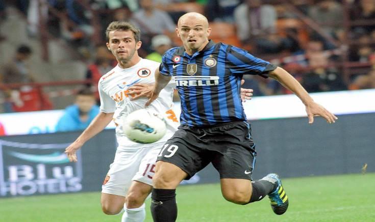 Cambiasso e Pjanic in Inter-Roma