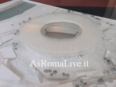 Il plastico dello stadio