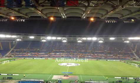 Lo stadio Olimpico pre Roma-Cska