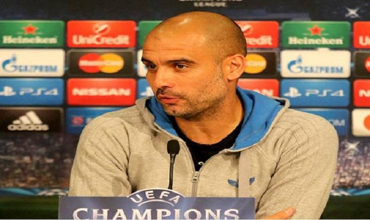 Guardiola in conferenza stampa