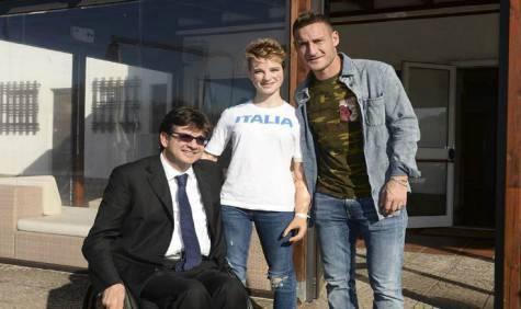 Luca Pancalli e Beatrice Vio (foto asroma)