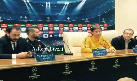 Rudi Garcia in conferenza stampa Cska Mosca-Roma