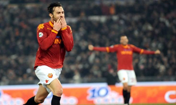 Roma-Lazio esultanza Cassetti