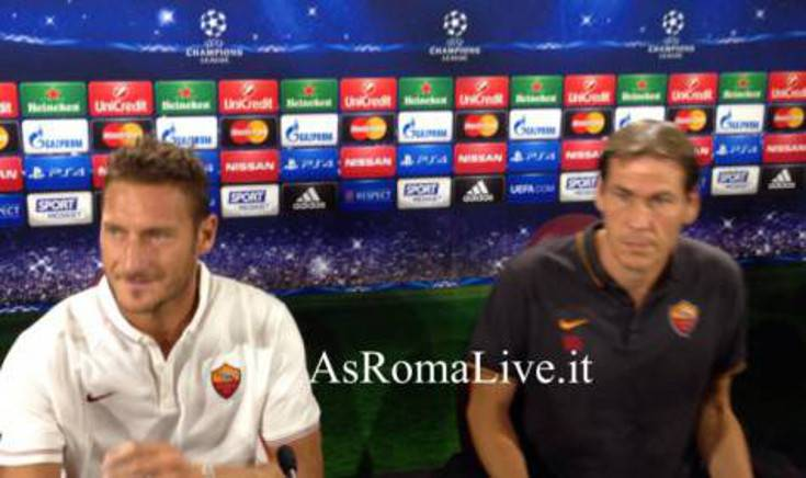 Garcia e capitan Totti