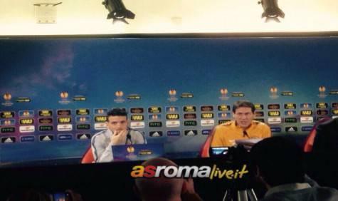 Garcia e Florenzi in conferenza stampa