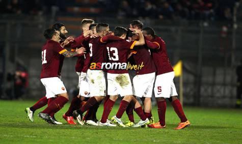 Primavera Roma-Man City esultanza della squadra