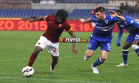 Roma-Sampdoria azione Gervinho