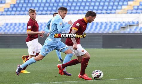 Primavera Roma-Lazio Sanabria in azione