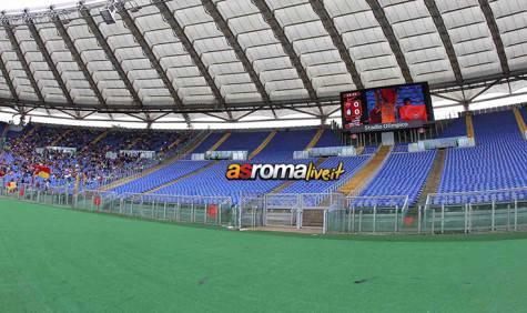 Roma-Atalanta Curva Sud vuota