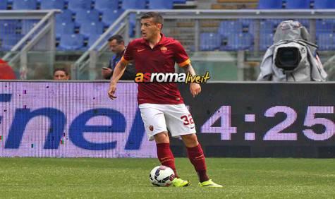 Roma-Atalanta azione Paredes