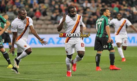 Sassuolo-Roma gol Doumbia