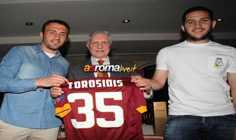 Torosidis e Manolas al Roma Club Ancona